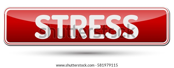 STRESS - Abstract beautiful button with text.