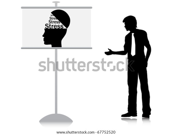 Stress Banner Stock Vector Royalty Free 67752520