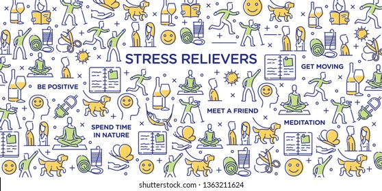 Stress Relievers Conceptual Image