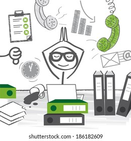 Office Chaos Images Stock Photos Vectors Shutterstock