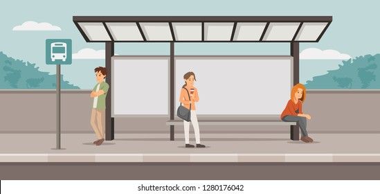 stressed people on station vector