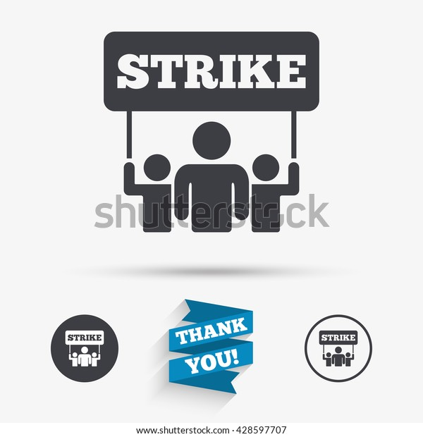 Strike Sign Icon Group People Symbol Stock Vector (Royalty Free