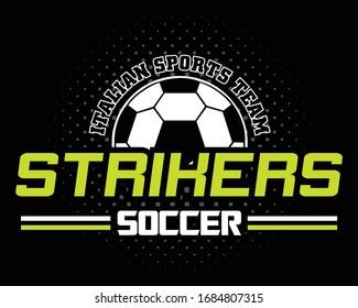 striker. soccer. football. sports vector graphic design