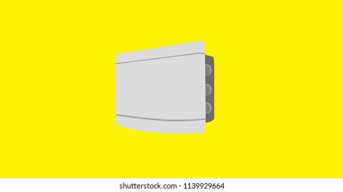 String box in flat design - Solar Energy Equipment Concept Image