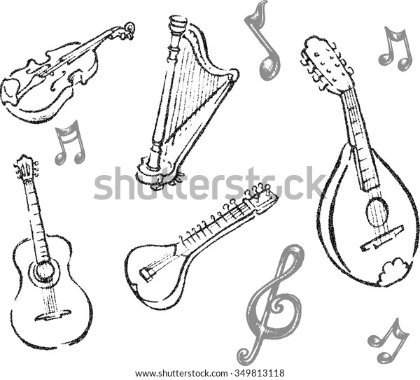 outline of musical instruments