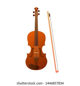 Stringed musical instruments, violin. Design layout for banners presentations, flyers, posters and invitations. Vector illustration