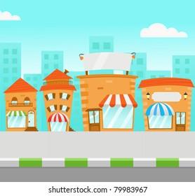 Strip Mall (vector)