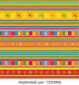 strip pattern. vector floral background