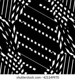 Stripe and check abstract pattern seamless.
