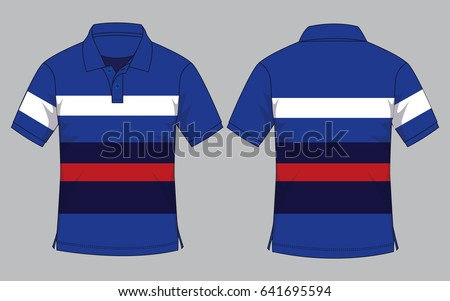 b5b4b71f2 Stripe Polo Shirt Design Stock Vector (Royalty Free) 641695594 ...