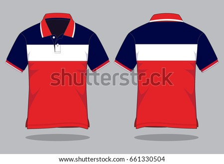 e88bb3889 Stripe Polo Shirt Design Stock Vector (Royalty Free) 661330504 ...