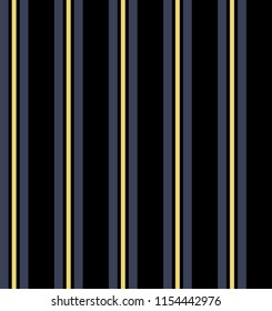 Stripe seamless pattern with black,yellow and blue colors vertical parallel stripes.Vector abstract background.