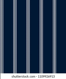 stripe seamless pattern with navy blue and white vertical parallel stripe.abstract pattern stripes background.
