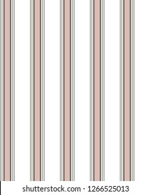 Stripe seamless pattern with pink,gold and white colors vertical parallel stripes.vector background.