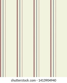 Stripe seamless pattern with Retro blue, Red and Beige colors vertical parallel stripes.Vector abstract background.