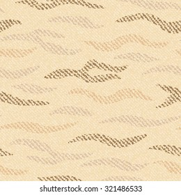 Striped Camouflage Jeans background. Denim seamless pattern. Brown jeans cloth.