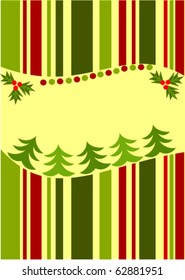 Striped Christmas card background