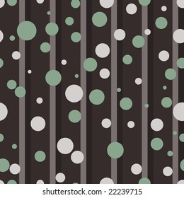 Striped and dotted seamless pattern