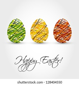 striped eggs, easter and spring cocnept,