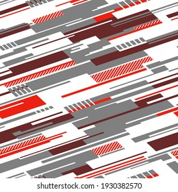 Striped geometric seamless pattern. Abstract modern grunge racing texture for vinyl wrap and decal. Vector background.