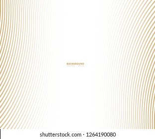 Striped gold texture, Abstract warped Diagonal Striped Background, waved lines texture. Brand new style for your business design, vector template for your ideas