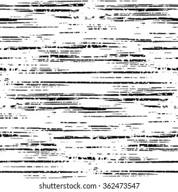 Striped grunge black and white texture.Seamless vector ink grunge brush. Illustration background.