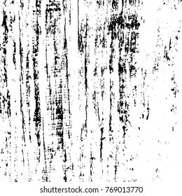 Striped Grunge Overlay Vector Texture For Your Design. Empty distressed wooden fiber background. EPS10 vector.