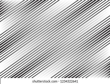 Striped monochrome pattern. Abstract geometric background with lines. Vector illustration