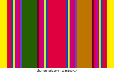 Striped Multicolor Background, Mexican Sarape Pattern, Striped Pattern