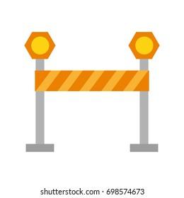 striped roadblock icon image
