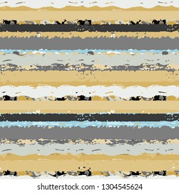 Striped seamless pattern. Brush strokes, lines. Abstract background. Grunge print. Fabric design, wallpaper