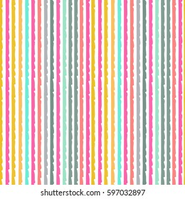 Striped seamless pattern. Lines, brush strokes. Abstract background texture, wallpaper