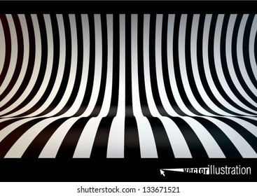 Striped studio backdrop, empty space for your text or object