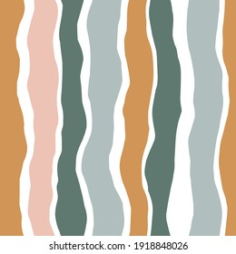 Striped vector seamless pattern. Contemporary collage seamless background. Colorful stripes for fabric design.