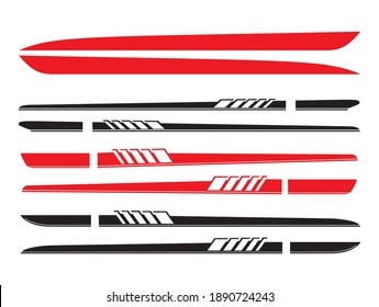 Stripes stickers decals on both sides of the car. Sports decals Svg for cars