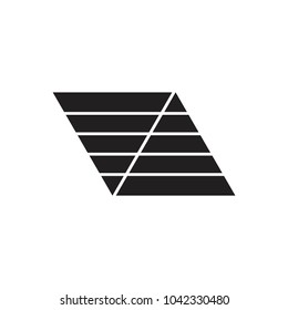 stripes trapeze symbol logo vector