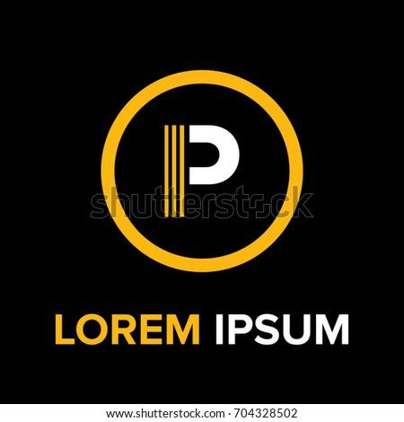 Strips Letter P Logo P Letter Stock Vector Royalty Free 704328502