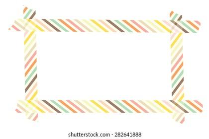 Strips Washi tape frame