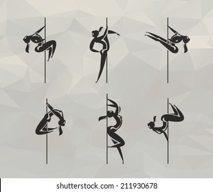 Striptease icons. Vector format