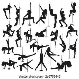 Striptease silhouettes