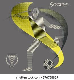 Stripy soccer player