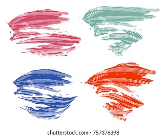 strokes of colorful pain on white background