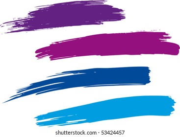 Strokes of a paint brush. Vector.