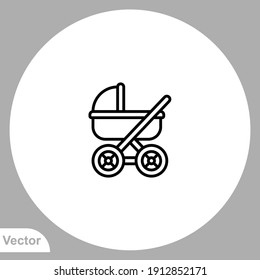 Stroller icon sign vector,Symbol, logo illustration for web and mobile