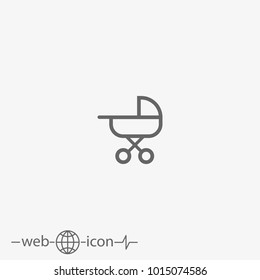 stroller vector icon