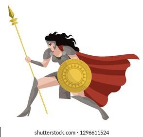 strong amazon warrior woman