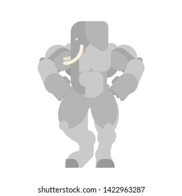 Strong Elephant. Powerful bishop. animal bodybuilder. hard beast