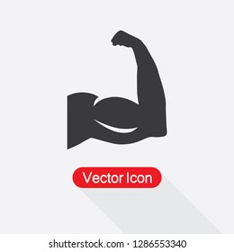 Strong Icon, Biceps Icon Vector Illustration Eps10