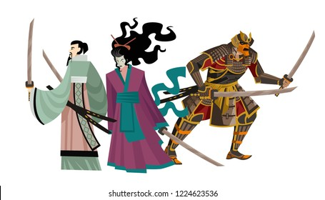 strong japanese samurai team