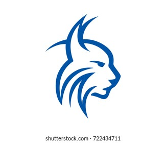 Strong Lynx Head Illustration